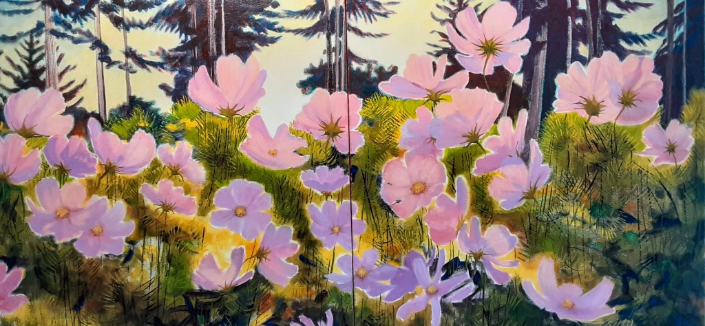 2(24x24) or 24 x 48, acrylic on canvas, diptych, 2020